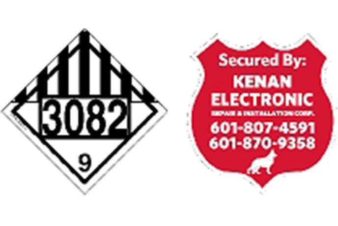 SP Security Sign Sample